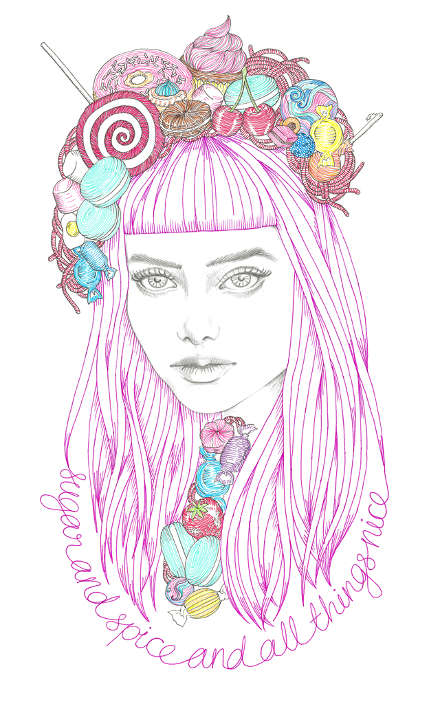 Sugar & Spice - illustration by Kate Philipson
