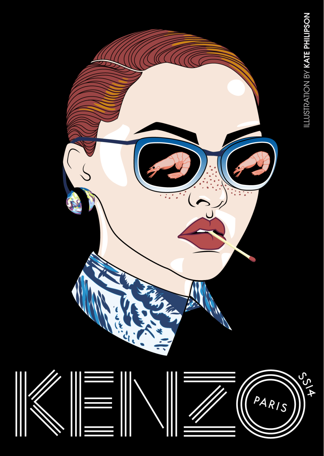 Kenzo SS14 - illustration by Kate Philipson