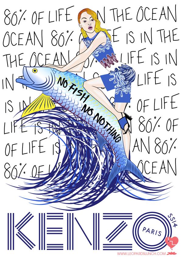 Kenzo SS14 - No Fish No Nothing