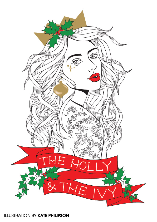 Holly & Ivy - illustration by Kate Philipson