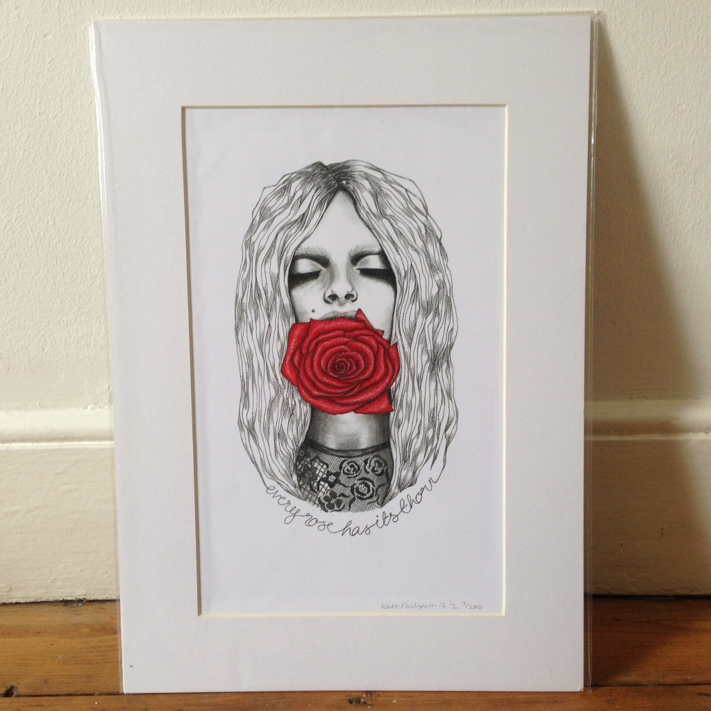 Every Rose - A3 print, signed and mounted
