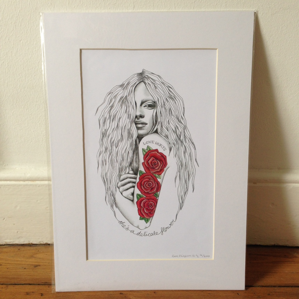 Love Hurts - A3 print, signed and mounted